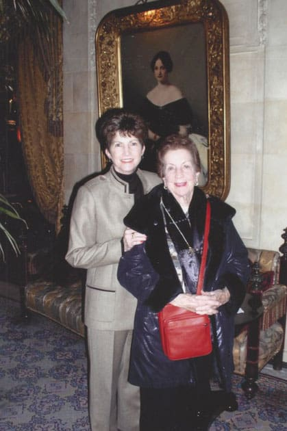 My Dear Mother, Connie, working with me in PARIS. CONNIE was using The SHERPA Biscuit BAG. We were a Great team. I could not of done it without her support, devotion and Love. Very important, she kept the SHERPA Financial house in order.