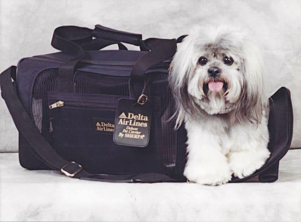 SHERPA in her DELTA DELUXE SHERPA Bag