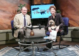 The fabulous veterinarian and talk show host, Dr Brian Voynick always concerned about safe pet travel and spreading the word about SHERPA.