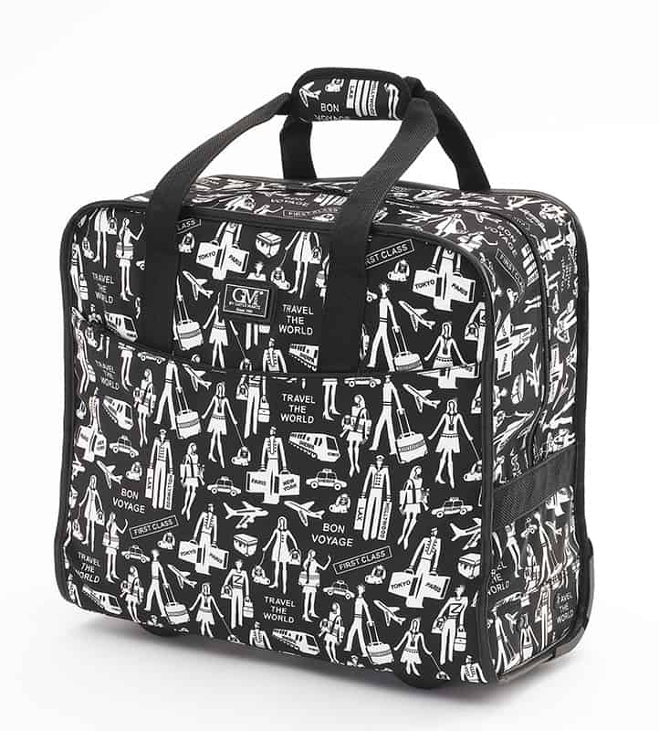 Gayle Martz Inc. Travel Print Tote On Wheels