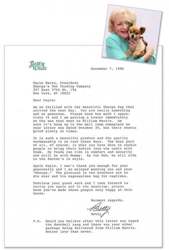 Betty White Testimonial