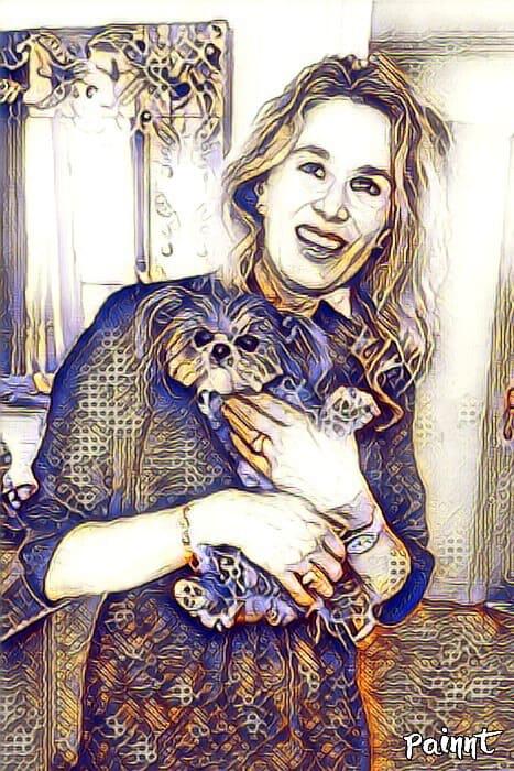 Chrystele with Kimba