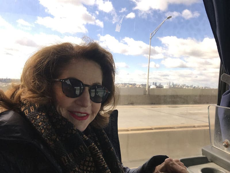 Gayle roaming New York with the TWA Reunion Group